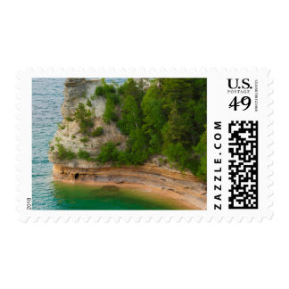 USA, Michigan. Miner's Castle Rock Formation Postage