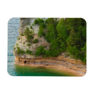 USA, Michigan. Miner's Castle Rock Formation Rectangular Photo Magnet
