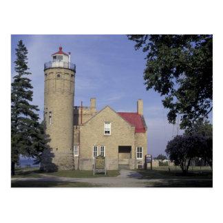 USA, Michigan Old Mackinac Point Lighthouse Postcard
