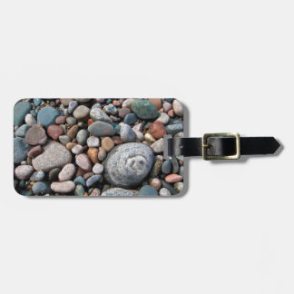 USA, Michigan. Polished Pebbles On The Shore Luggage Tag