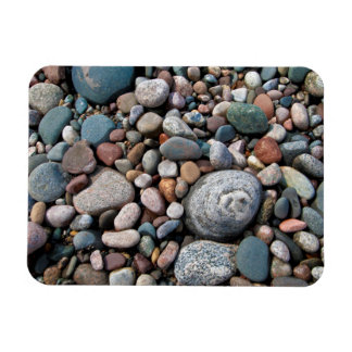 USA, Michigan. Polished Pebbles On The Shore Rectangular Photo Magnet