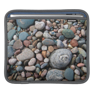 USA, Michigan. Polished Pebbles On The Shore Sleeve For iPads