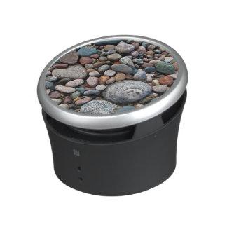 USA, Michigan. Polished Pebbles On The Shore Speaker