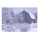 USA, Michigan, Rochester Hills. Snowy blue Photo Art