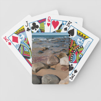 USA, Michigan. Rounded Boulders On 12 Mile Bicycle Playing Cards