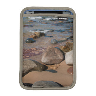USA, Michigan. Rounded Boulders On 12 Mile Sleeve For iPad Mini