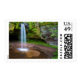 USA, Michigan. Scott's Falls In Upper Michigan Postage Stamp