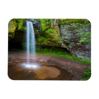 USA, Michigan. Scott's Falls In Upper Michigan Rectangular Photo Magnet