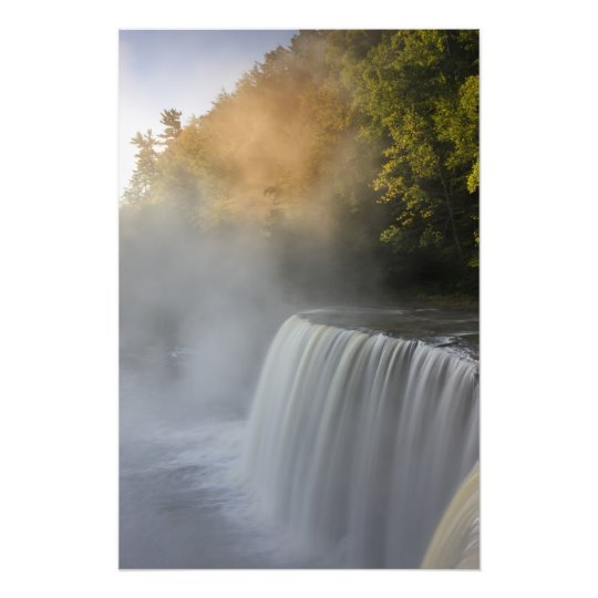 USA, Michigan, Upper Peninsula. Autumn sunrise Photo Print