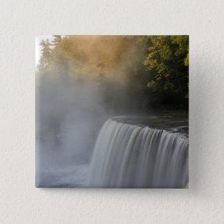 USA, Michigan, Upper Peninsula. Autumn sunrise Pinback Button