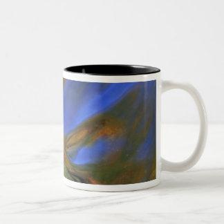 USA, Michigan, Upper Peninsula, birch leaf in Coffee Mugs