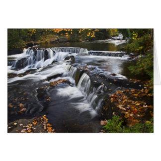 USA, Michigan, Upper Peninsula. Bond Falls and Card