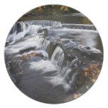 USA, Michigan, Upper Peninsula. Bond Falls and Plate