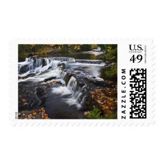 USA, Michigan, Upper Peninsula. Bond Falls and Postage Stamp