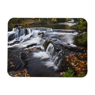 USA, Michigan, Upper Peninsula. Bond Falls and Rectangular Photo Magnet
