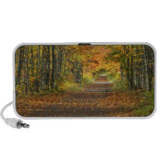 USA, Michigan, Upper Peninsula. Roadway into Travel Speaker