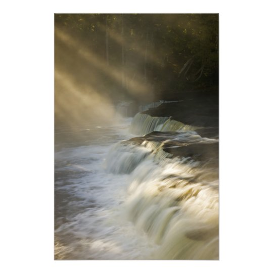 USA, Michigan, Upper Peninsula. Sunbeams on Photo Print