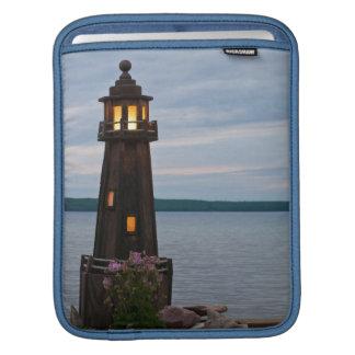 USA, Michigan. Yard Decoration Lighthouse Sleeves For iPads