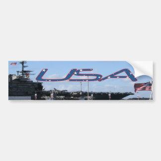 USA Midway Bumper Sticker Car Bumper Sticker