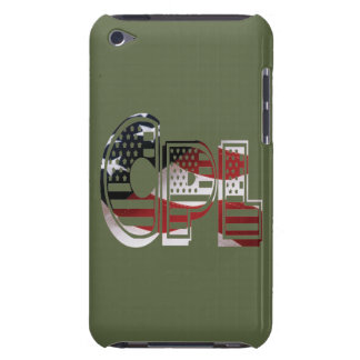 USA Military Green American Cpl Corporal Barely There iPod Cover