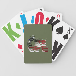 USA Military Green American Cpl Corporal Bicycle Playing Cards