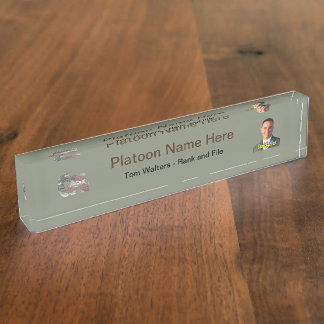 USA Military Green American Cpl Corporal Name Plate