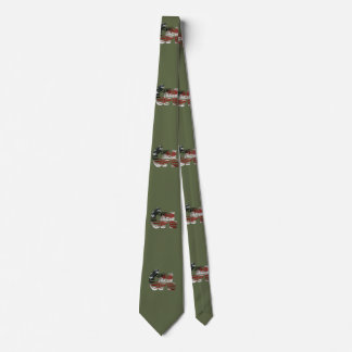 USA Military Green American Cpl Corporal Tie