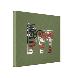 USA Military Green American Pvt Private Canvas Print