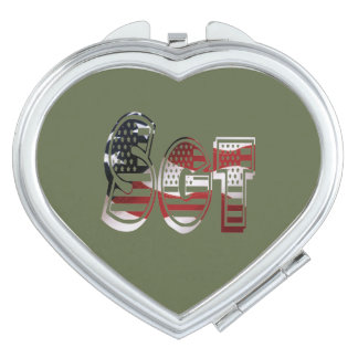 USA Military Green American Sgt Sergeant Mirror For Makeup