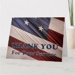 USA Military Veterans Patriotic Flag Thank You