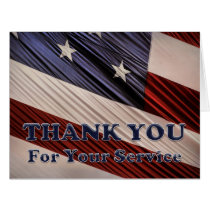 USA Military Veterans Patriotic Flag Thank You Card