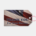 USA Military Veterans Patriotic Flag Thank You Gift Tags
