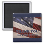 USA Military Veterans Patriotic Flag Thank You Magnet