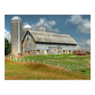 USA, Minnesota Barn And Silo Postcard
