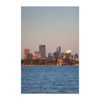 USA, Minnesota, Minneapolis, City Skyline Canvas Print