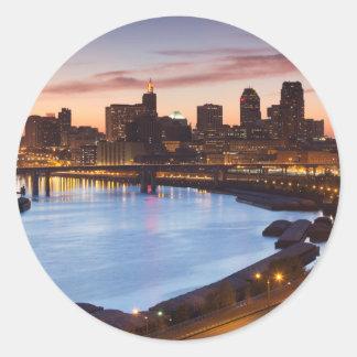 USA, Minnesota, Minneapolis, St. Paul 2 Classic Round Sticker