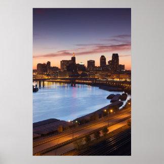 USA, Minnesota, Minneapolis, St. Paul 2 Poster