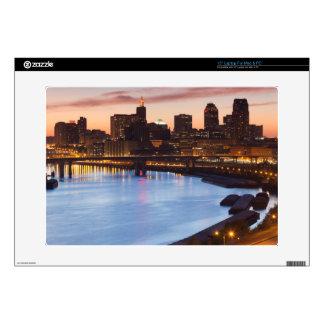 "USA, Minnesota, Minneapolis, St. Paul 2 15"" Laptop Decals"