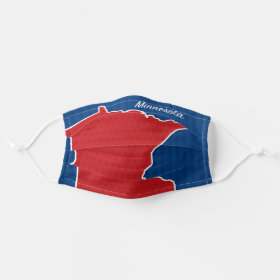 USA Minnesota State Stars and Stripes Map Cloth Face Mask