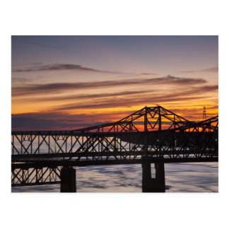 USA, Mississippi, Vicksburg. I-20 Highway and Postcard