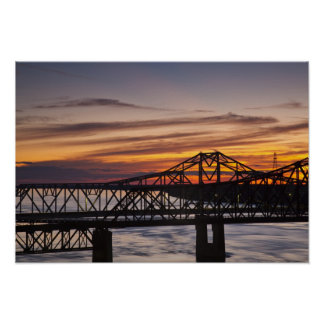 USA, Mississippi, Vicksburg. I-20 Highway and Poster