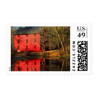 USA, Missouri, Alley Mill At Alley Spring Ozark Postage