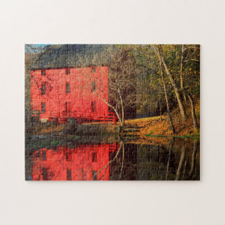 USA, Missouri, Alley Mill At Alley Spring Ozark Jigsaw Puzzles