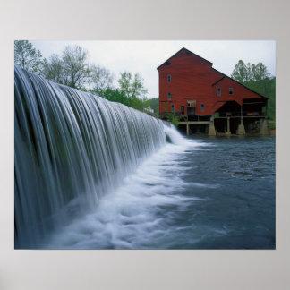 USA, Missouri, Ozark County, Rockbridge Mill Poster