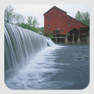 USA, Missouri, Ozark County, Rockbridge Mill Square Sticker