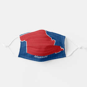 USA Missouri State Stars and Stripes Map Cloth Face Mask