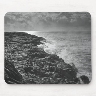 USA. Molten lava flows into the ocean at sunrise Mouse Pads