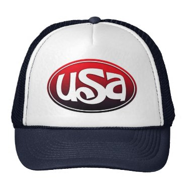 USA Themed USA Monogram Design Trucker Hat