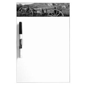 USA, Montana, Bannack State Park Old wagon made Dry Erase Board