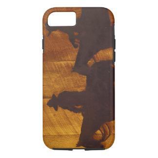 USA, Montana, Boulder River Cowboys on horses iPhone 7 Case